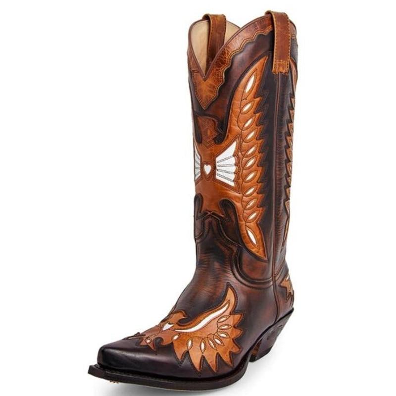 أحذية رجالي جديد لعام 2021 أحذية عالية الجودة للرجال من جلد البولي يوريثان أحذية سلامة على الموضة للرجال أحذية كاوبوي كلاسيكية ماركة سولير أوم