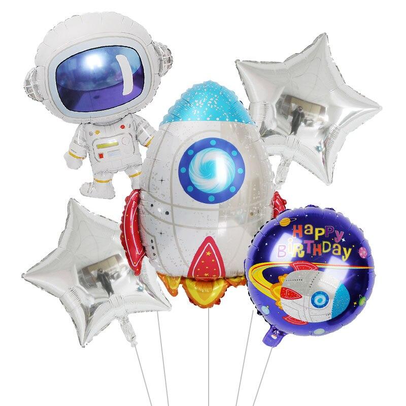 Вечерние космические космонавты, ракета, корабль, воздушный шар из фольги, Галактика/Солнечная система, вечерние украшения для мальчиков, день рождения, вечеринки