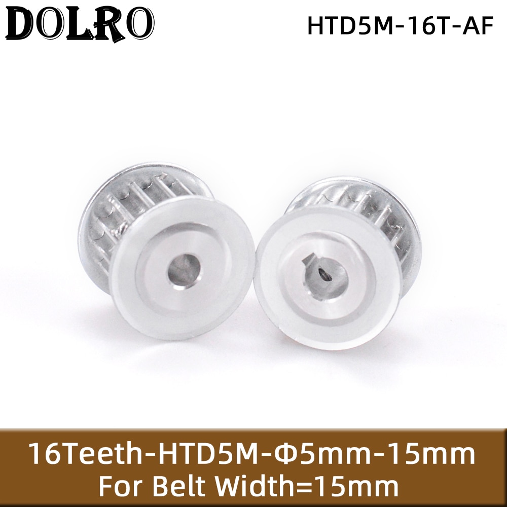 HTD 5M 16 Teeth Synchronous Timing Pulley Bore 5/6/6.35/7/8/10/12/14/15mm for Width 15mm HTD5M Belt gear 16-5M-15 AF 16Teeth 16T
