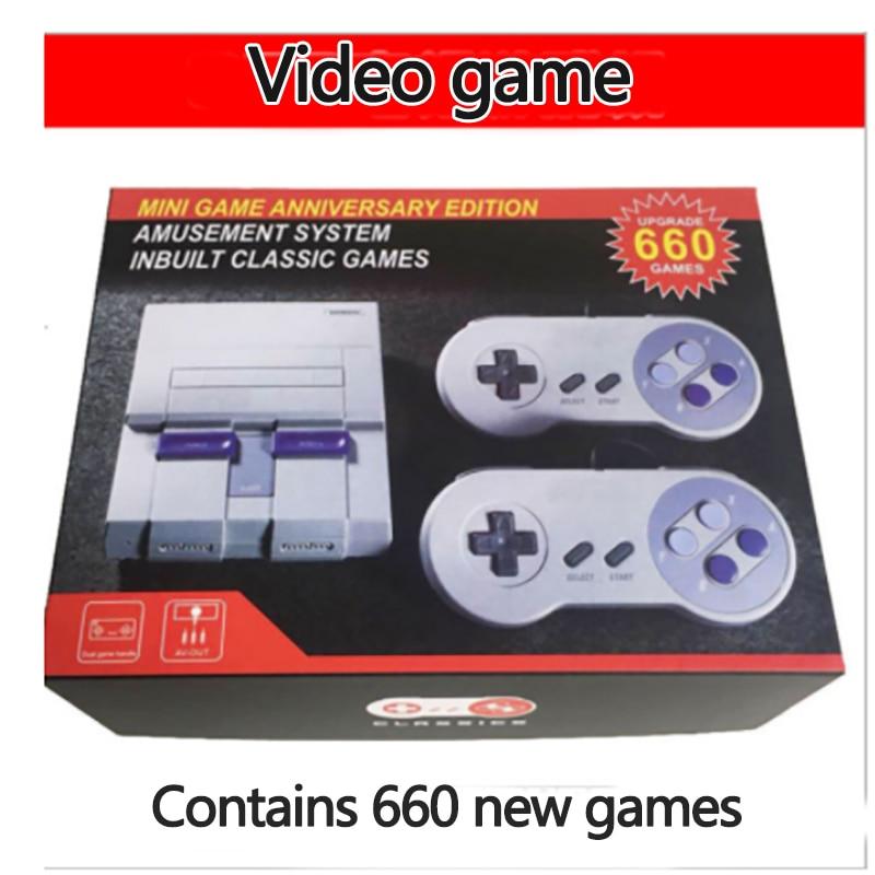 Mini console clássico edição, sistema de entretenimento compatível com super nintendo, console de videogame portátil retrô