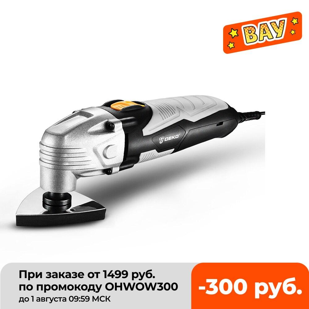 آلة تشذيب كهربائية DEKO جديدة 220 فولت DKOM40LD1/2 متعددة الوظائف أداة تتأرجح كهربائية سريعة متغيرة مع ملحقات
