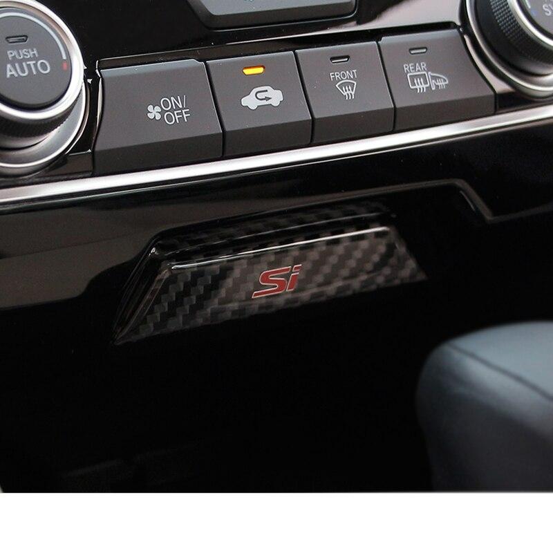 Lsrtw2017 voiture tableau de bord centre boîte de rangement commutateur garnitures pour honda civic 2016 2017 2018 2019 2020 10th accessoires intérieurs