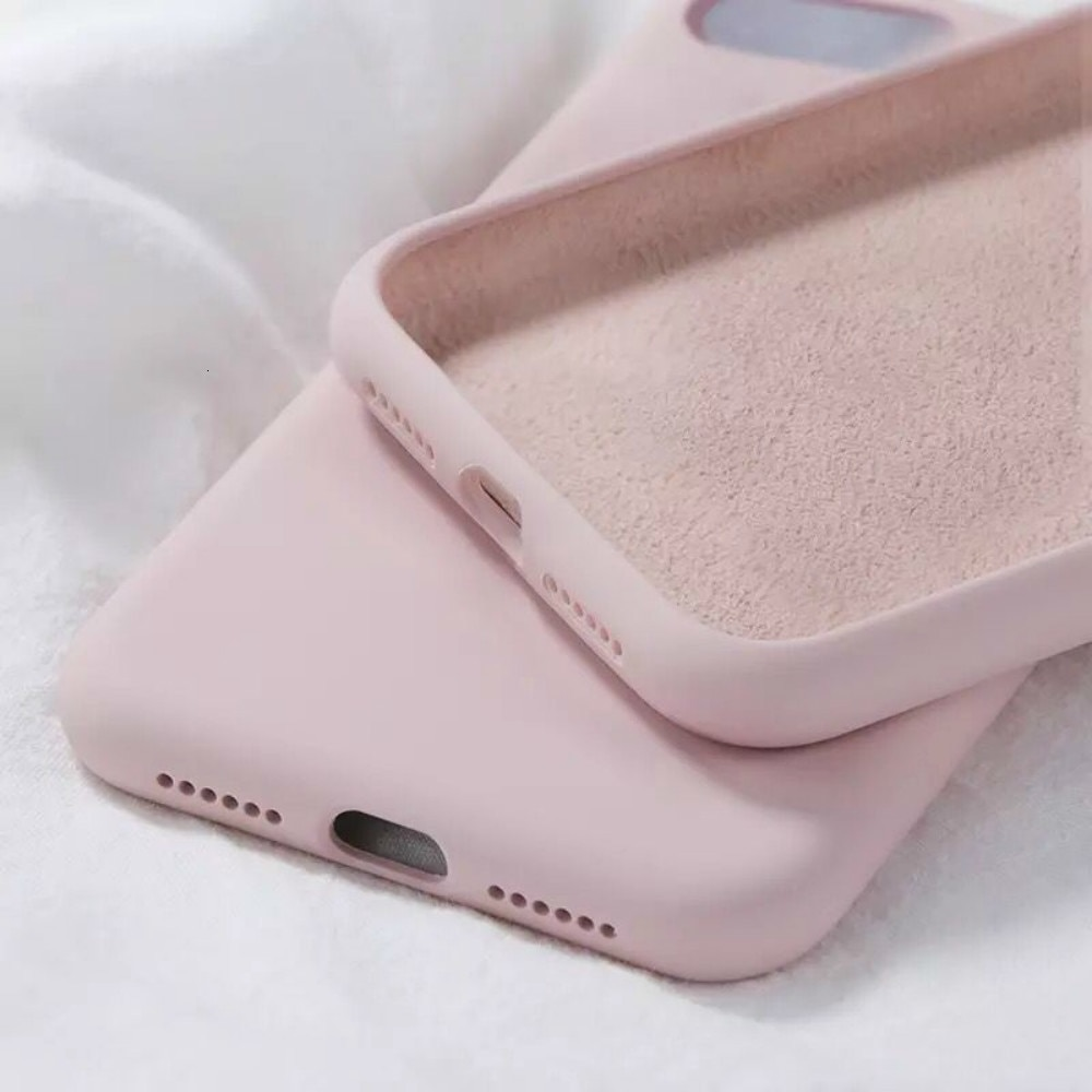 Funda de silicona líquida Candy Original para IPhone 6 6S 7 8 Plus X XR XS Max, fundas de teléfono blandas a prueba de golpes para Iphone 11 Pro MAX