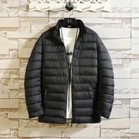 new style mens cotton padded jacket with nylon fabric plus velvet to keep warm winter cotton padded jacket