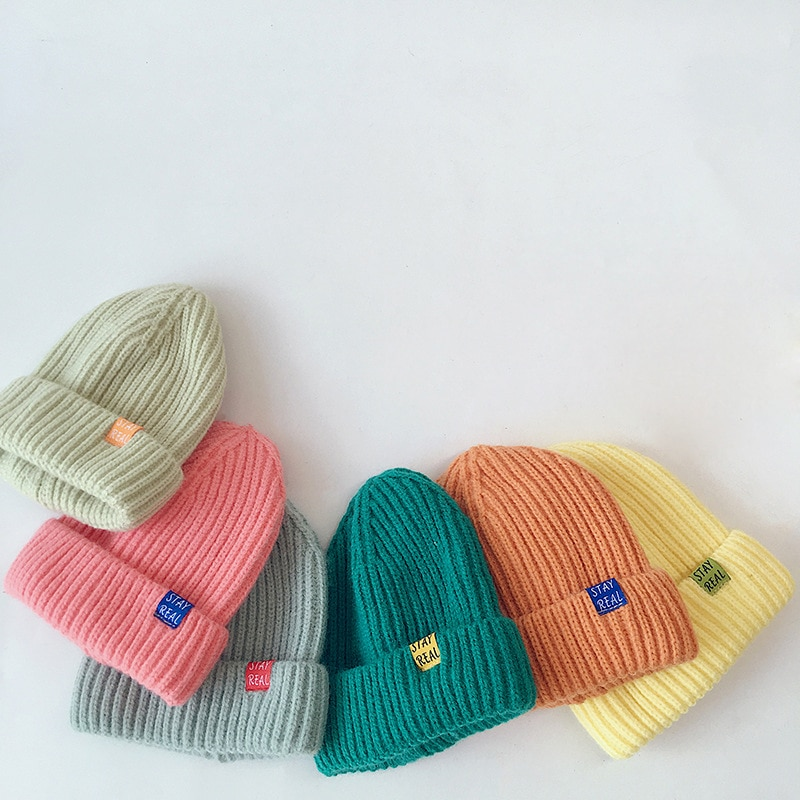 new winter baby boys girls turban hats knotted beanies caps indian children baby hat infant gift accessories Autumn Winter Solid Color Baby Knitted Hats Kids Girls Boys Beanies Caps Warm Soft Casual Hats for Children