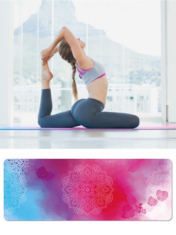 183x68cm gimnasio deporte Yoga Mat gamuza Tie-dye antideslizante Fitness perder peso Pilates Slim aeróbico Yoga Pad Camping ejercicio masaje