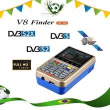 """GTMEDIA Satellite V8 Finder Meter HD DVB-S/S2/S2X SatFinder MPEG2 MPEG4 mit 3000mA Batterie 3.5 """"LCD v8 Finder FTA Sat finder"""