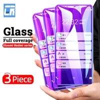 anti blue light screen protector for xiaomi poco x3 nfc m2 f2 pro a3 m3 tempered glass redmi 9 9a 9i note 10 9s 8t 8 7 pro cover