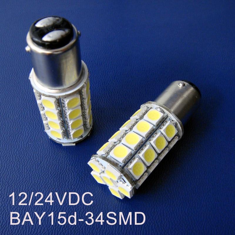 Gran calidad, 24V P21/5W Luces de Freno led, luz de estacionamiento BAY15d, BAZ15d,24v PY21/5W,1157 24v luz trasera Led, Envío Gratis 100 piezas por lote