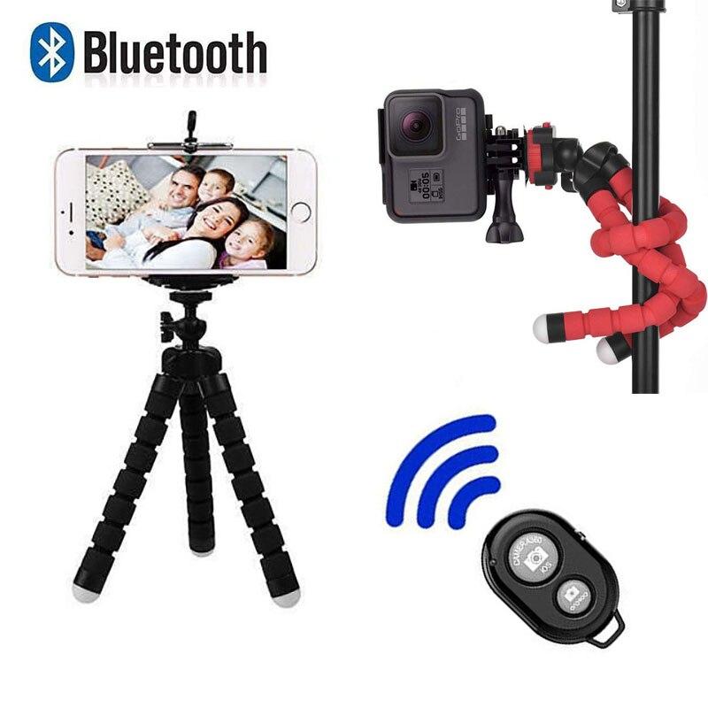 Bluetooth дистанционный Мини Гибкий губка Осьминог штатив для спорта действий видео камера портативный мобильный телефон подставка для Iphone x Ios