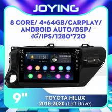 "9 ""Android Radio estéreo para Toyota Hilux tracción izquierda 2015, 2016, 2017, 2018, 2019, 2020 GPS DSP Carplay SIM 4G WiFi Subwoofer SPDIF"