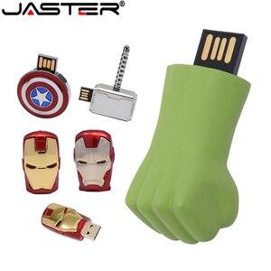 Металлический Железный человек флеш-диск USB 2,0 ГБ 4 ГБ 8 ГБ 16 ГБ 32 ГБ 64 ГБ 128 г Капитан Америка флеш-накопителей и реальные Ёмкость Memory Stick реальные Ёмкость