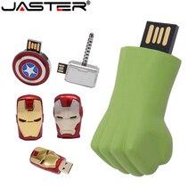 JASTER Iron man Captain America Spider Man Thor The Hulk USB lecteur flash USB 2.0 stylo lecteur 4GB 128GB 16GB 32GB 64GB U disque