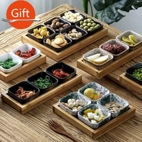 japanese style dried fruit plate bar counter snack snack plate ceramic platter ktv fruit plate household snack plate kitchen set