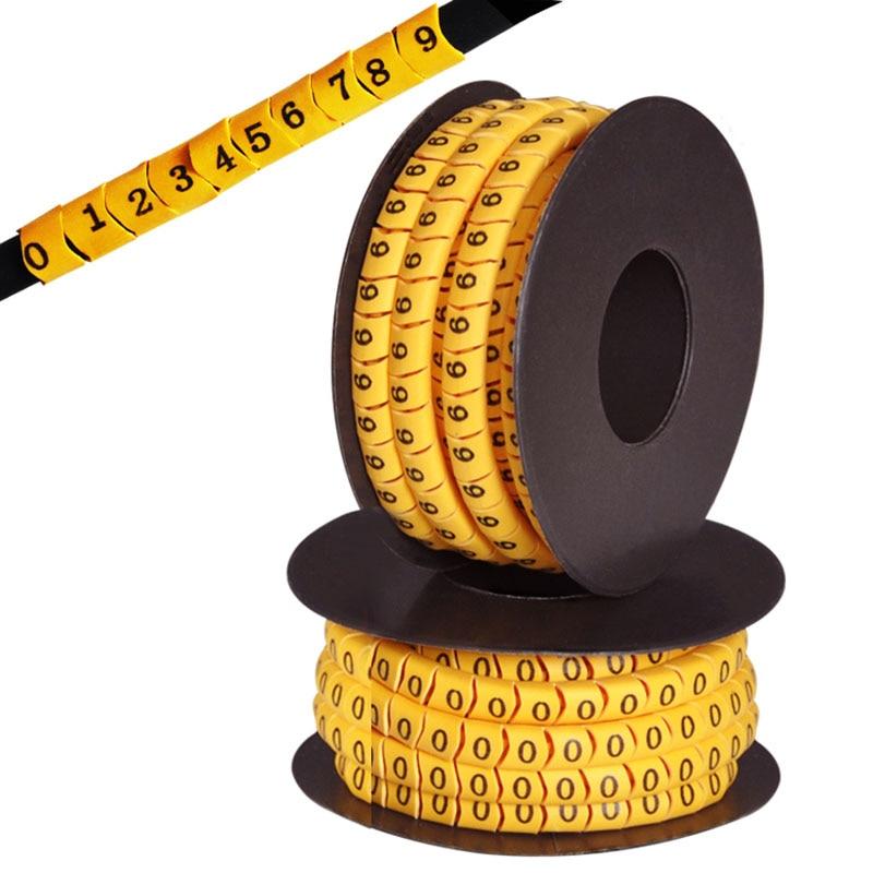 1,5 мм/2,5 мм/4 мм/6 мм квадратный Номер трубки Кабель маркер красочные маркер провода cabe маркер 0-9 номер A-Z буквы