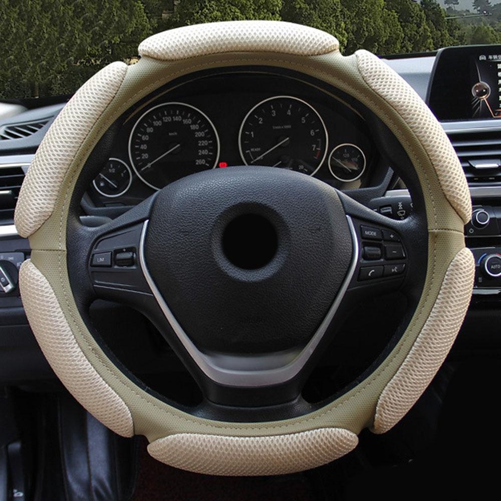 Чехол рулевого колеса автомобиля Автомобильный дышащий сетчатый чехол для рулевого колеса из ледяного шелка, дышащий чехол для рулевого ко...