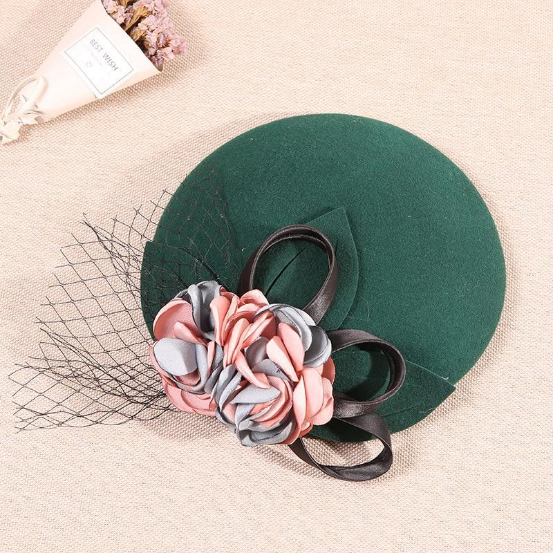 Inglaterra, 2019 nuevo tocado de novia glamour Vintage elegante gasa velo sombrero fiesta de boda capilla sombreros