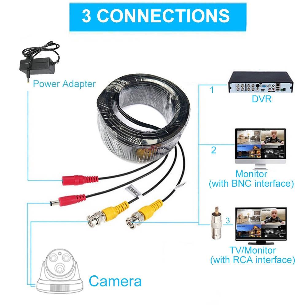 10m-60M CCTV DVR Camera Recorder System Video Cable DC Power Security Surveillance BNC Cable CCTV Parts enlarge