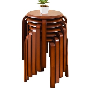 Solid Wood Stool Home Small Stool Low Stool Creative Fashion Small Bench Wooden Stool Simple Modern Round Stool Wood Stool