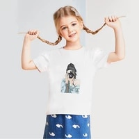 beautiful girl fashion summer t shirt loose cozy fine print children clothes casual short sleeve toddler girl t shirt y2k tops