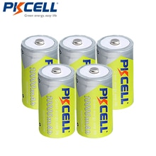 5 Pcs/lot PKCELL NIMH D taille Batteries 1.2V 10000mAh NI-MH batterie Rechargeable