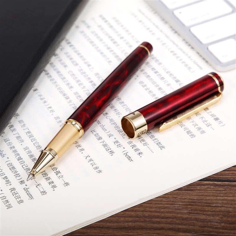 Picasso 902 marca preto rolo bola caneta com carving boné escola escritório papelaria de luxo escrita bonito presente metal bola canetas