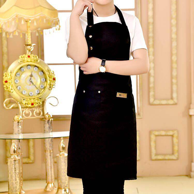 New Fashion Canvas Kitchen Aprons For Woman Men Chef Work Apron For Grill Restaurant Bar Shop Cafes Beauty Nails Studios Uniform enlarge