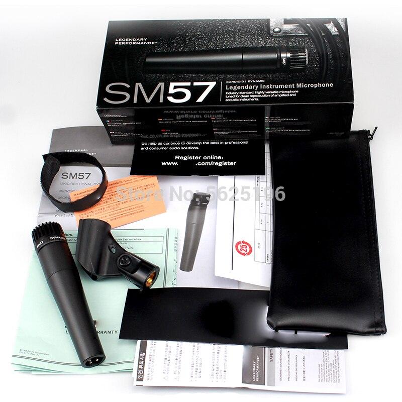 Музыкальный барабан SM57, микрофон, динамический микрофон для гитарного усилителя, бас-усилителя, саксофона, трубы или ударных в сцене и студи...
