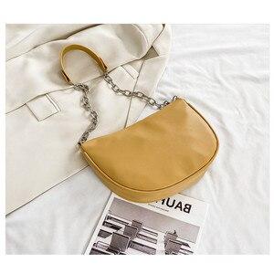 Retro PU Leather Chain Saddle Bags For Women 2020 Designer Bags Female Shoulder Bag Sac A Main Femme Lady Travel Handbags