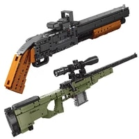 new xingbao 2400124002 toy gun model the m1897 and amw sniper rifle building blocks bricks boys building toys christams gift