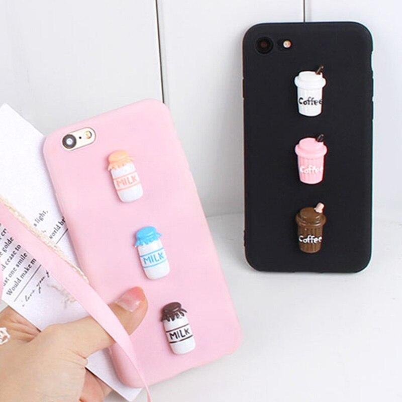 Mignon bonbons étui à café pour Xiaomi Mi Note 10 Pro 9T 9 8 Lite 9 SE 6X 5X 8SE 9T Pro doux 3D lait téléphone couverture en TPU