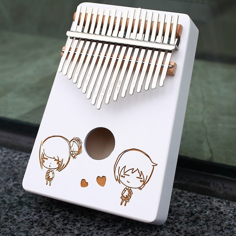 Kalimba 17 Keys Portable Finger Piano Wood for Kids and Piano Beginners Musical Instruments Familiarize Yourself with the Scales enlarge