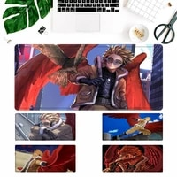cheap hero academia hawks coat mouse pad laptop pc computer mause pad desk mat for big gaming mouse mat for overwatchcs go