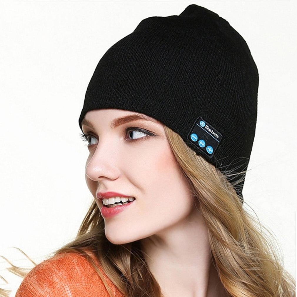 Осенняя и зимняя теплая Беспроводная шерстяная шапка с Bluetooth, стерео шапка для мужчин и женщин, вязаные шапки