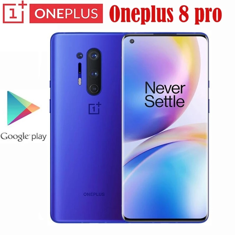 Original Oneplus 8 Pro 5G Smartphone Snapdragon 865 8GB 128GB 6.78 120Hz 48MP Android 10 30W Charger NFC Mobile Phone