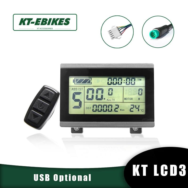 KT Ebike LCD3 عرض 24 فولت 36 فولت 48 فولت 72 فولت LCD3 kt-شاشة lcd led ل دراجة كهربائية عدة ebike للتحويل