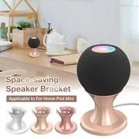 Mini support de haut-parleur intelligent pour Homepad  Base de bureau en ABS avec coussin en Silicone antiderapant