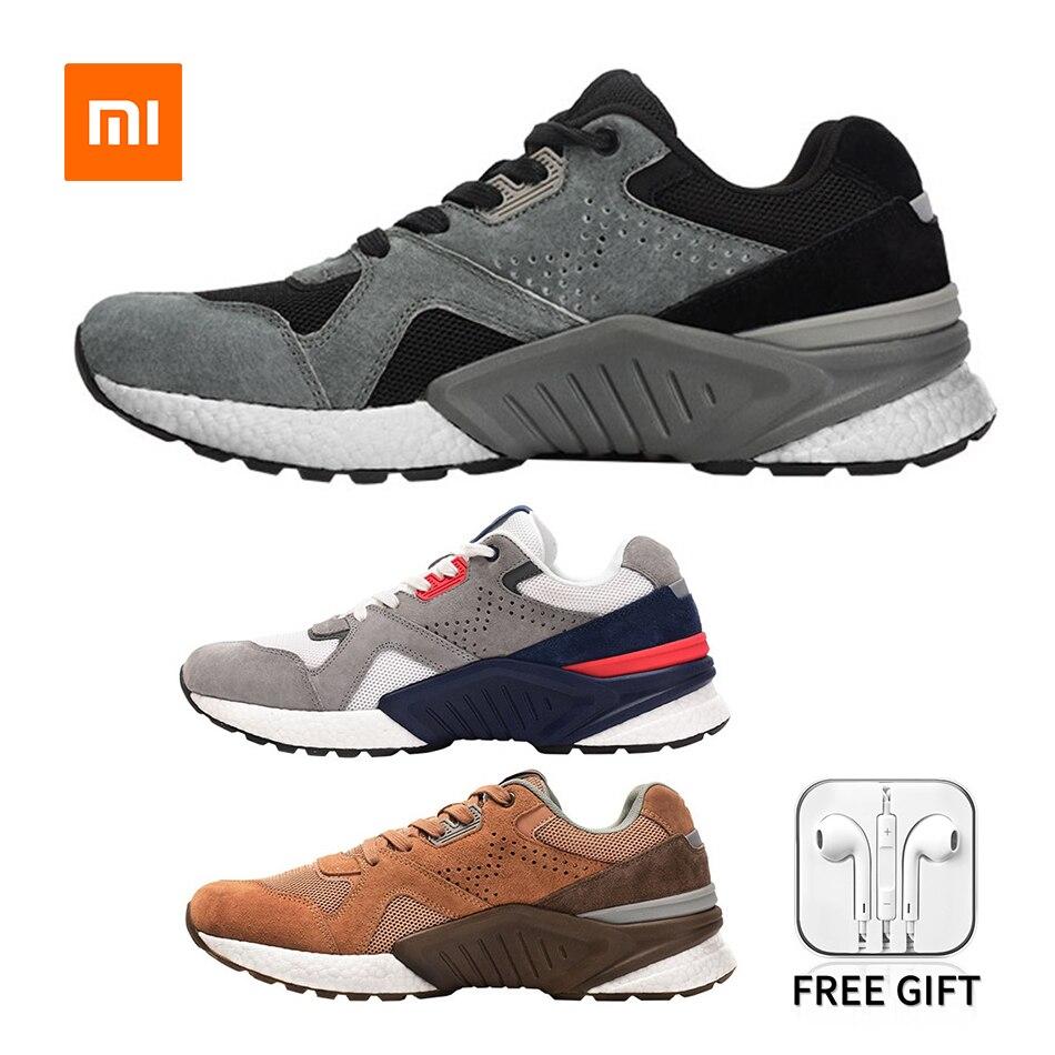 Xiaomi Mijia-أحذية الجري القديمة للرجال ، أحذية رياضية للرجال باللون الأسود والأبيض والرمادي