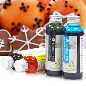 Edible Ink 100ml Black Color MFC J460DW J480DW x`J485DW J680DW J880DW J885DW Compatible for Brother LC201 LC203 Printer