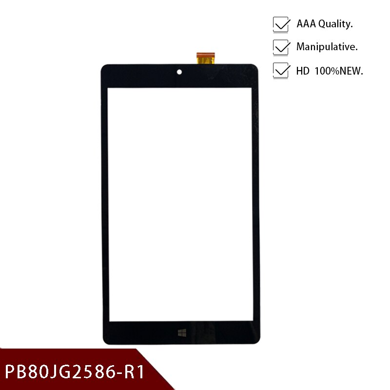 100% negra de 8 pulgadas, nueva para Tablet PC, PB80JG2586-R1, pantalla táctil auténtica, pantalla de escritura a mano, Envío Gratis