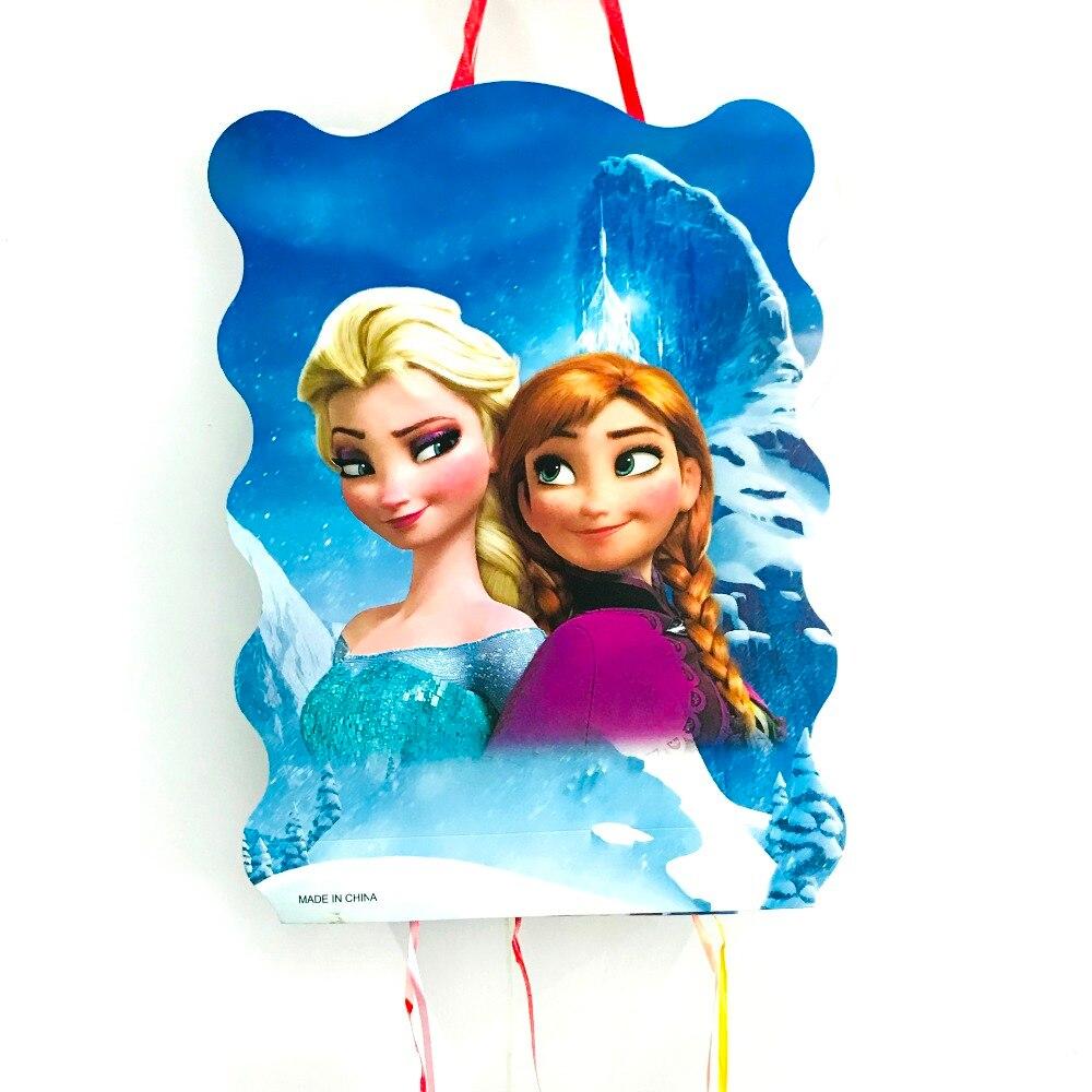 40 * 30 cm DISNEY congelación Anna Partido Piñata Elsa Suministros favores de la fiesta de cumpleaños de las muchachas de los niños de plástico desechables para niños