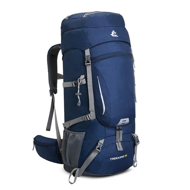 Большой уличный рюкзак 60 л, сумка для альпинизма, водонепроницаемый рюкзак для кемпинга, альпинизма, треккинга, пешего туризма, спортивная с...