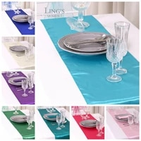 table runner satin shiny colour table decoration wedding hotel party show table runner cheap
