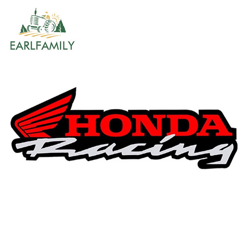 EARLFAMILY, pegatinas gráficas de vinilo para coche HONDA de 13cm x 3cm, pegatinas para espejo lateral retrovisor, pegatinas para coche de carreras, Moto, casco de coche