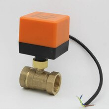 AC220V /24V DC12V/24V valvola a 2 vie in ottone valvola a sfera motorizzata valvola a sfera elettrica attuatore elettrico DN15 DN20 DN25 DN32 DN40