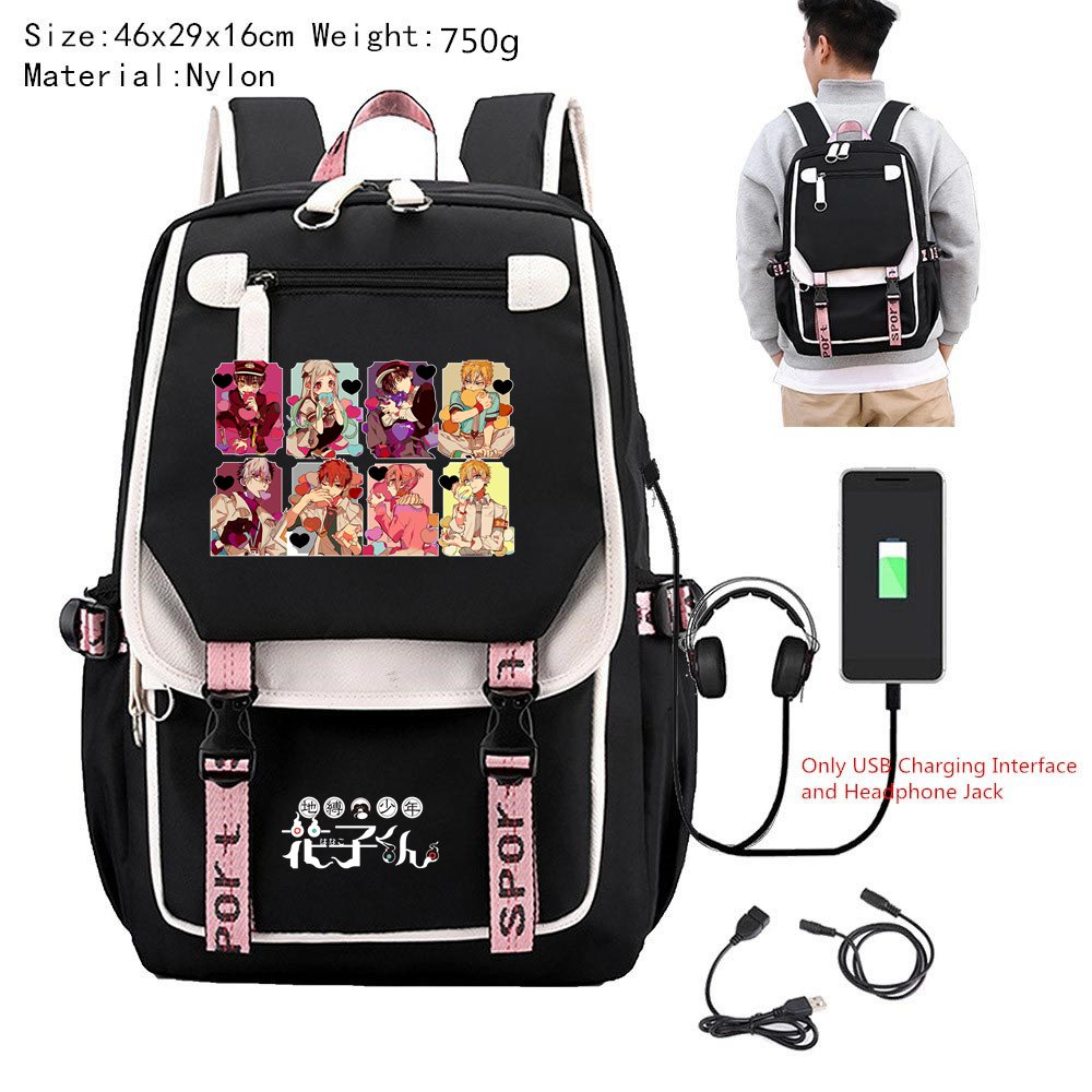 Toilet-Bound Hanako-kun Anime Nylon School Backpack Bags Men Women Travel Laptop Bags Game Boys Girls Shoulder Bags High Quality