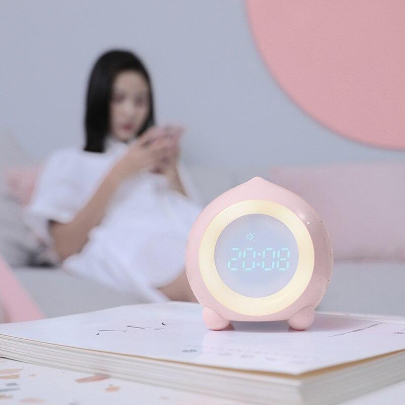 Taoqu Colorful Night Light Alarm App Smart Phone Set Digital Alarm Home Products