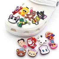 high quality 1pc pvc cartoon cat shoe charms cute mouse shoe accessories buckle decorations fit croc jibz kids x mas gift