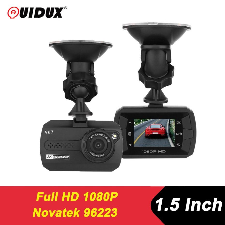 QUIDUX سيارة داشكام 1.5 بوصة جهاز تسجيل فيديو رقمي للسيارات نوفاتيك 96223 كامل HD 1080P السيارات مسجل فيديو مخفي Dvrs داش كاميرا مسجل