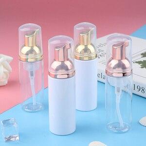 1pcs 60ml mpty Face Eyelashes Cosmetic Bottle ECleaner Soap Dispenser Foam Bottle Rose Gold Foam Plastic Foam Pump Bottle